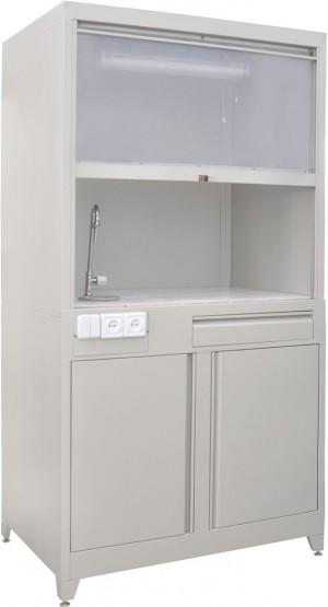 Стол металлический с раковиной ТЕ-1-4-028.00