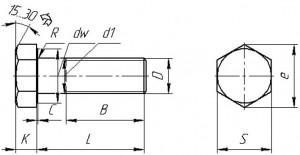 Болты по стандарту DIN 931