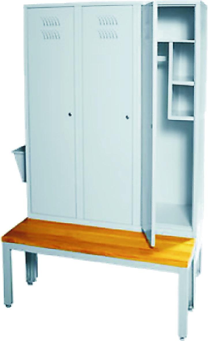 Шкаф металлический платяной (ТЕ-1-1-001.03)